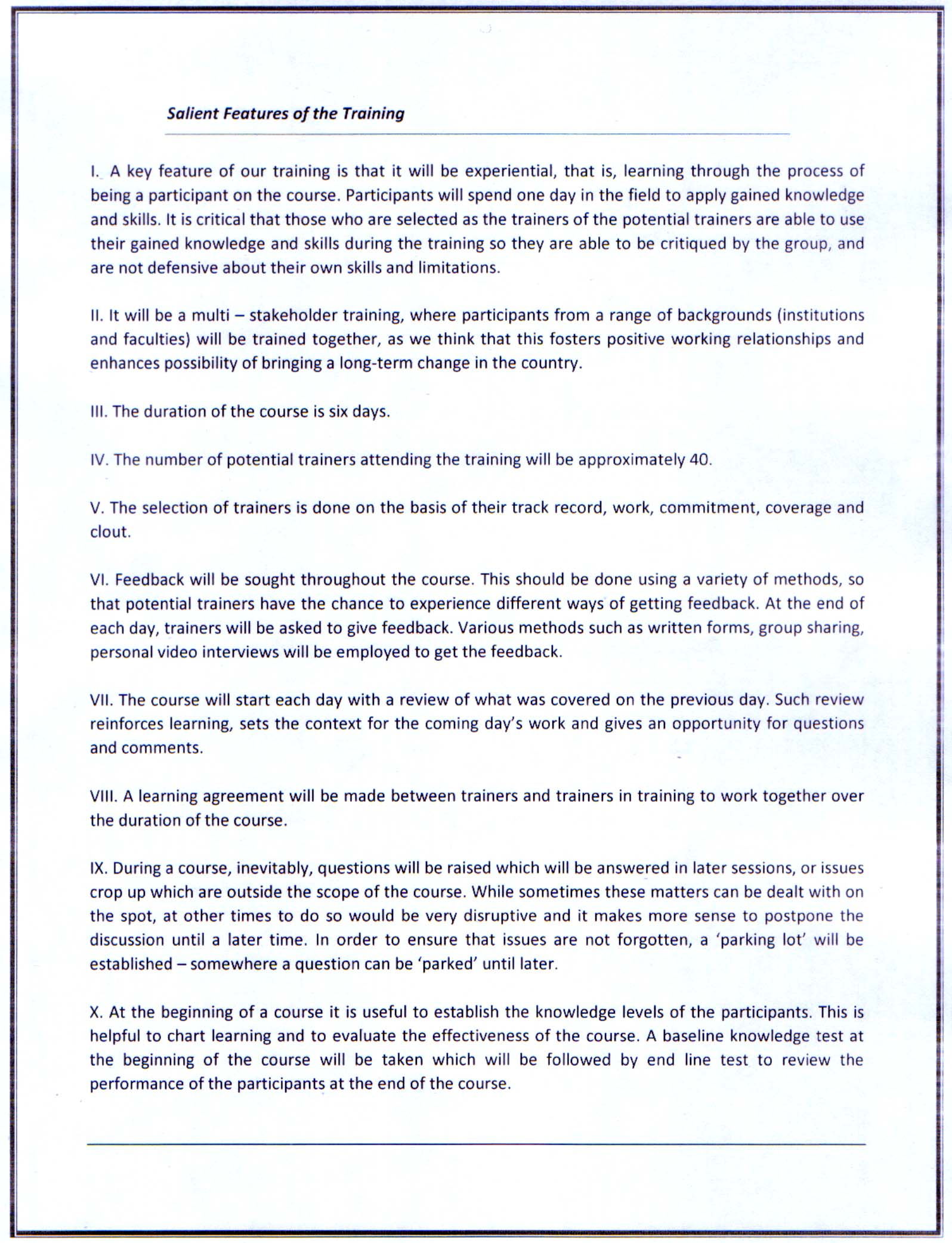 Salient Features Of Tot Advancing Youth Social Entrepreneurship In